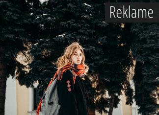 En kvinde i vintertøj